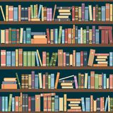 Bookshelves. Full of books both in the library. Vector illustration vector illustration