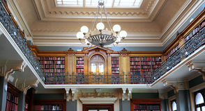 Bookshelves in old library Royalty Free Stock Photography