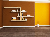 The  bookshelves in the room Royalty Free Stock Images