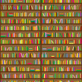 Bookshelves. Seamless background pattern. Vector illustration royalty free illustration