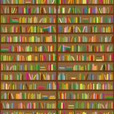Bookshelves. Seamless background pattern. Vector illustration Stock Images