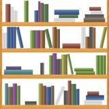 Bookshelves. Seamless background pattern. Vector illustration Royalty Free Stock Photo