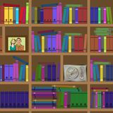 Bookshelves. Seamless texture. Stock Photography
