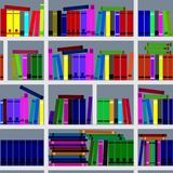 Bookshelves. Seamless texture. Stock Image