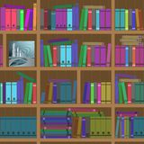 Bookshelves. Seamless texture. Stock Photos