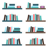 Bookshelves set / collection Stock Images