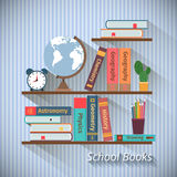 Bookshelves with textbooks Royalty Free Stock Photo