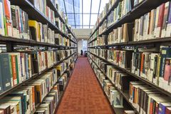 Bookshelves in the Toronto Reference Library Royalty Free Stock Images