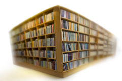Bookshelves on white Stock Photo