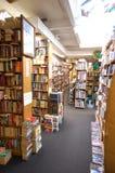 Bookshop, Ann Arbor, Michigan USA. Well stocked bookshelves in quirky bookshop, downtown Ann Arbor, Michigan USA Stock Image