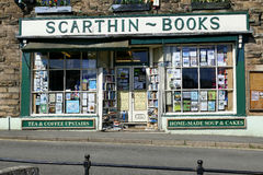Bookshop. CROMFORD, DERBYSHIRE, UK. APRIL 19,2016.  The Scarthin bookshop rated the sixth best bookshop in the world by the Guardian on line at Cromford in Royalty Free Stock Photos