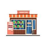Bookshop Front. Vector Illustration Stock Photos
