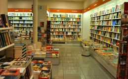 Bookshop interior in Italy  Stock Image