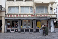 A Bookshop in Ostend, Belgium Royalty Free Stock Photo