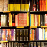 Bookshop shelves Royalty Free Stock Image