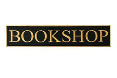 Bookshop sign. (isolated on white Stock Photo