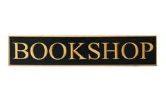 Bookshop sign. (isolated on white stock photo