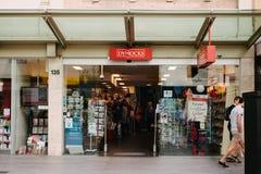 Bookshop on a street mall Stock Photos