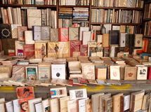 Bookshop. Used books in a bookshop in Rome, Italy Royalty Free Stock Photo