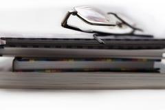Bookss und eyeglases Lizenzfreies Stockbild