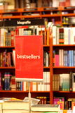Bookstore. And place with bestsellers royalty free stock photography