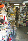 Bookstore. ATHENS, GREECE - OCTOBER 27, 2015: secondhand bookstore crammed with books in the Greek Plaka Stock Images