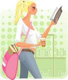At the bookstore- blond Royalty Free Stock Image