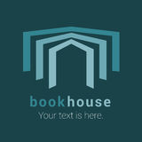Bookstore, bookshop, library vector emblem, sign, symbol, logo Stock Photos