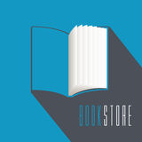 Bookstore, bookshop, library vector emblem, sign, symbol, logo Stock Images