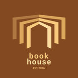 Bookstore, bookshop, library vector sign, icon, symbol, emblem, logo Stock Photos