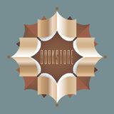 Bookstore, bookshop, library vector sign, icon, symbol, emblem, logo Royalty Free Stock Photos