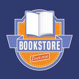 Bookstore, bookshop vector emblem, sign, symbol, logo Royalty Free Stock Image