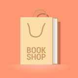 Bookstore, bookshop vector emblem, symbol, icon, logo Stock Photo