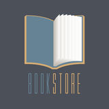 Bookstore, bookshop vector sign, icon, symbol, emblem, logo Royalty Free Stock Image