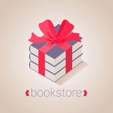 Bookstore, bookshop vector sign, icon, symbol, logo Royalty Free Stock Photo