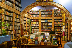 Bookstore, Cartagena, Colombia. Beautiful and cozy bookshop in Cartagena, Colombia royalty free stock photo