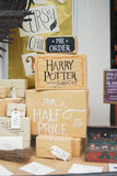 Bookstore display in Norwich,England. Window at Bookstore in Norwich advertises the new book on the Harry Potter series Stock Photography