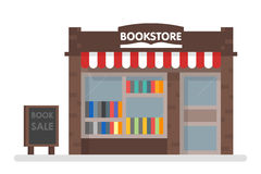 Bookstore Front Vector Illustration. Banner tamplate eps 10 Royalty Free Stock Image