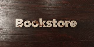 Bookstore - grungy wooden headline on Maple  - 3D rendered royalty free stock image. This image can be used for an online website banner ad or a print postcard Stock Photography