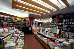 Bookstore. Interior of a book store in Rome Royalty Free Stock Image