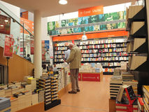 Bookstore interior in Rome Royalty Free Stock Images