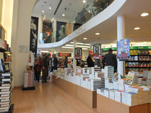 Bookstore interior in Rome Stock Photography