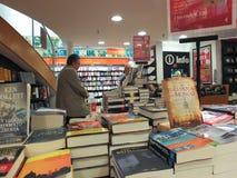 Bookstore interior in Rome Stock Photos
