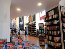 Bookstore interior in Rome Stock Photo