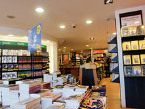 Bookstore interior in Rome Royalty Free Stock Photo