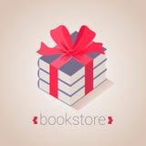 Bookstore, księgarnia wektoru znak, ikona, symbol, logo Zdjęcie Royalty Free