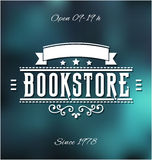 Bookstore Label. Vintage Style Bookstore Vector Emblem Royalty Free Stock Photo