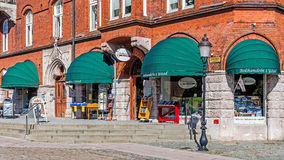 Bookstore in the Main Square. (Stortorget). In the Henning Mankell's novels the place is often visited by the fictitious hero, inspector Kurt Wallander. Taken Stock Image