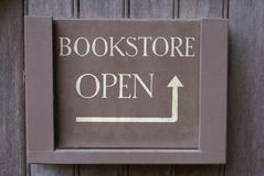Bookstore open sign Stock Photo