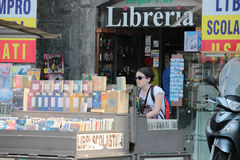 Bookstore in Piazza Dante, Naples Italy Royalty Free Stock Photo